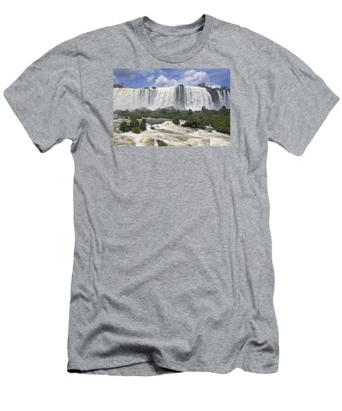 Beautiful Iguazu Waterfalls  Men's T-Shirt (Athletic Fit)