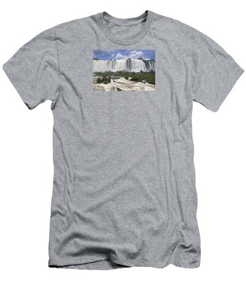 Beautiful Iguazu Waterfalls  Men's T-Shirt (Athletic Fit)