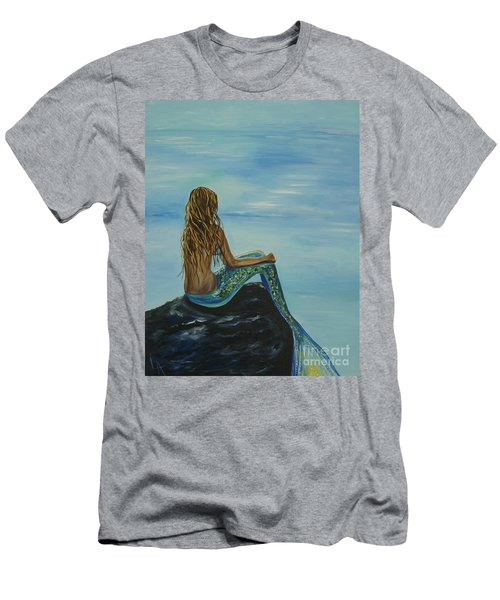 Beautiful Magic Mermaid Men's T-Shirt (Athletic Fit)