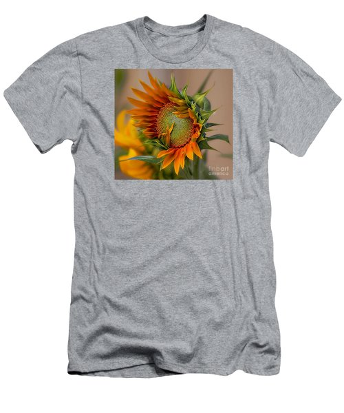 Men's T-Shirt (Slim Fit) featuring the photograph Beautiful Sunflower by John  Kolenberg