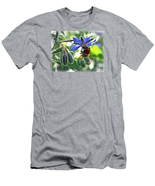 Bee On Borage Men's T-Shirt (Slim Fit) by Morag Bates
