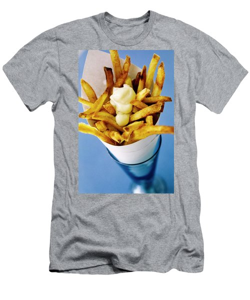 Belgian Fries With Mayonnaise On Top Men's T-Shirt (Athletic Fit)