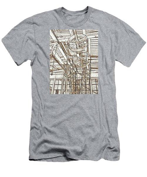 Belt Drive Dm  Men's T-Shirt (Athletic Fit)