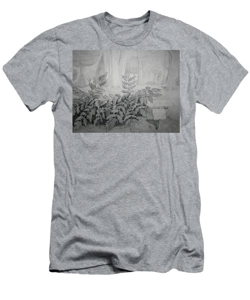 Men's T-Shirt (Slim Fit) featuring the drawing Bernheim Forest Plant by Stacy C Bottoms