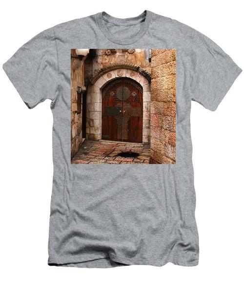 Door In Jerusalem Men's T-Shirt (Athletic Fit)