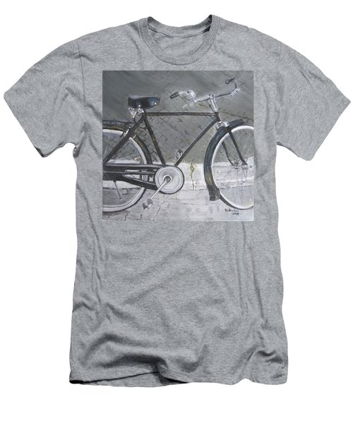 Bicycle In Rome Men's T-Shirt (Slim Fit) by Claudia Goodell