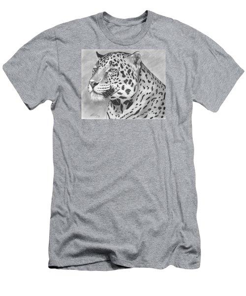 Big Cat Men's T-Shirt (Slim Fit) by Lena Auxier