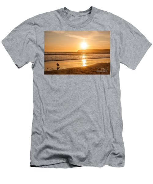 Men's T-Shirt (Athletic Fit) featuring the photograph Bird And His Sunset by John Wadleigh