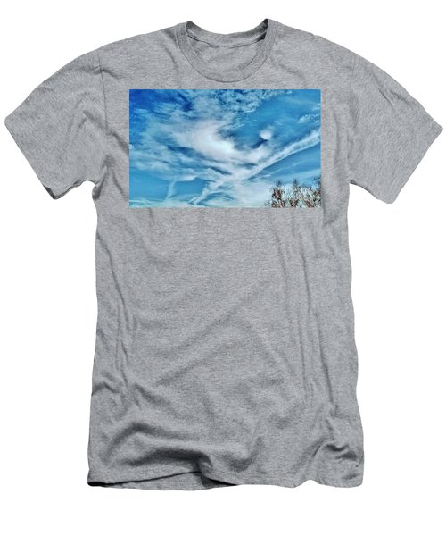 Bird Cloud Soaring By Men's T-Shirt (Athletic Fit)