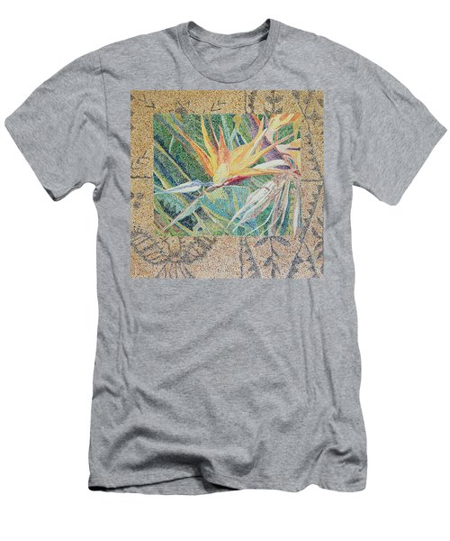 Bird Of Paradise With Tapa Cloth Men's T-Shirt (Athletic Fit)