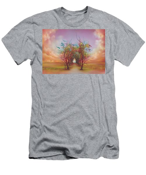 Birds Of Rainbow Mist Men's T-Shirt (Slim Fit) by Anna Ewa Miarczynska