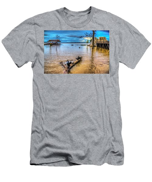 Birds On Log Men's T-Shirt (Athletic Fit)