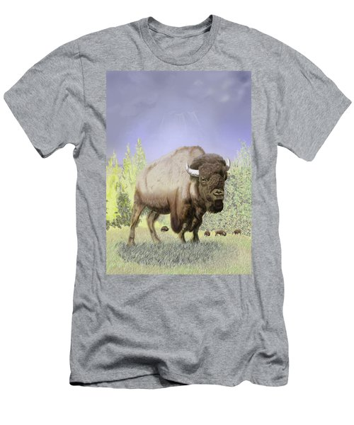 Bison On The Range Men's T-Shirt (Athletic Fit)