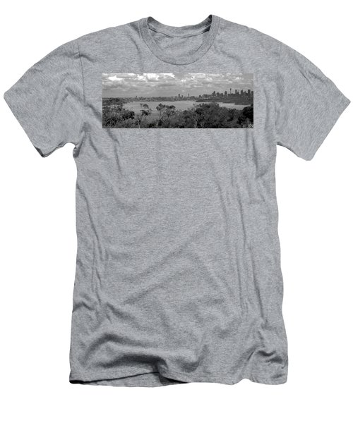 Men's T-Shirt (Slim Fit) featuring the photograph Black And White Sydney by Miroslava Jurcik