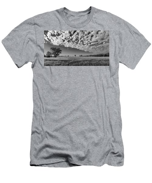 Black And White Wheat Field Men's T-Shirt (Athletic Fit)
