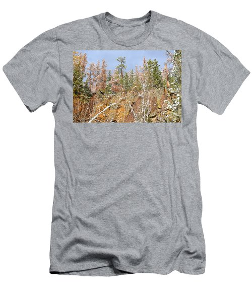 Men's T-Shirt (Slim Fit) featuring the photograph Black Hills Color Palette by Clarice  Lakota