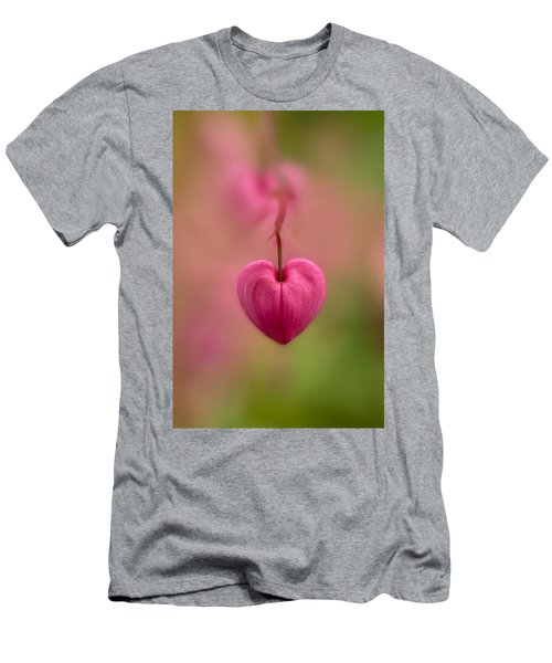Bleeding Heart Flower Men's T-Shirt (Slim Fit) by Jaroslaw Blaminsky