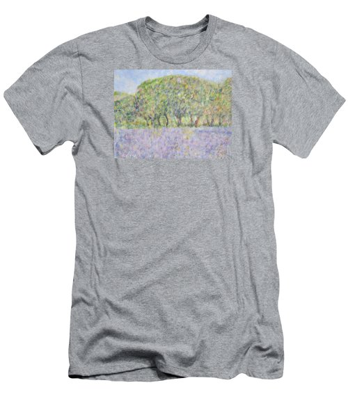 Blue Bonnets  Field In  Texas Men's T-Shirt (Athletic Fit)