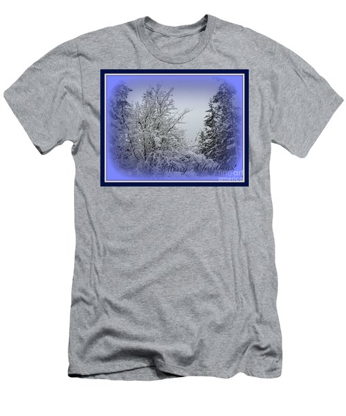 Blue Christmas Men's T-Shirt (Athletic Fit)