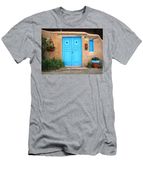 Blue Doors Of Taos Men's T-Shirt (Athletic Fit)