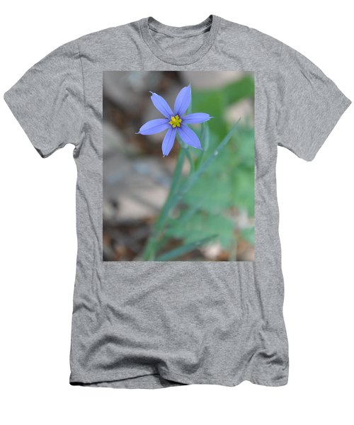 Blue Flower Men's T-Shirt (Athletic Fit)