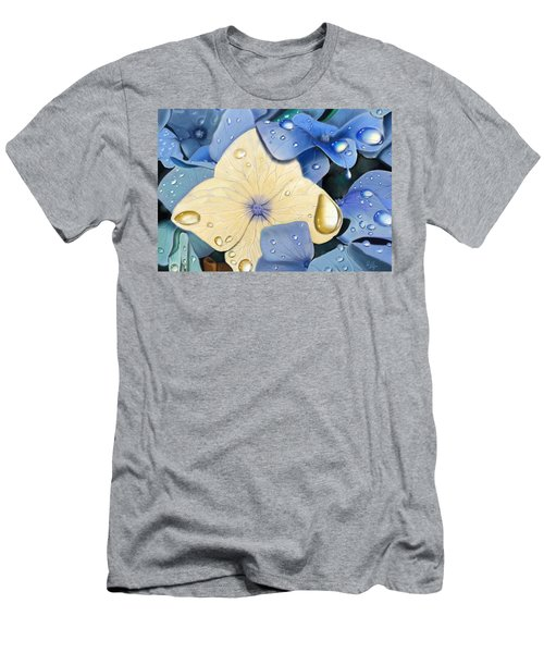 Blue Hydrangeas Men's T-Shirt (Athletic Fit)