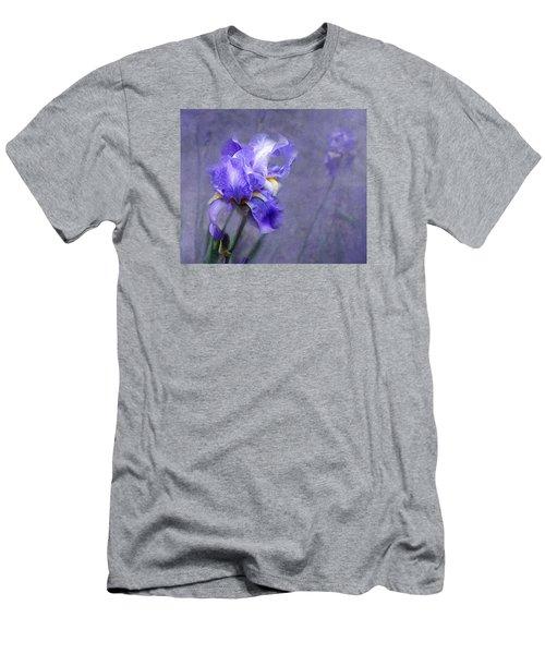 Blue Iris Men's T-Shirt (Slim Fit) by Lena Auxier