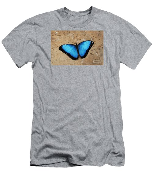 Blue Morpho #2 Men's T-Shirt (Slim Fit) by Judy Whitton