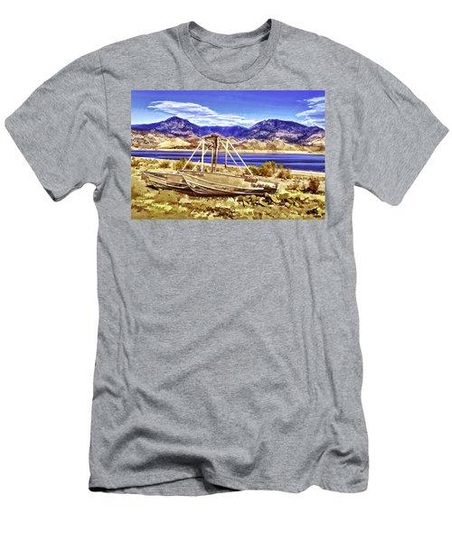 Men's T-Shirt (Slim Fit) featuring the painting Blue by Muhie Kanawati