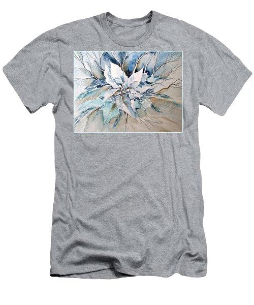 Blue Poinsettia Men's T-Shirt (Athletic Fit)