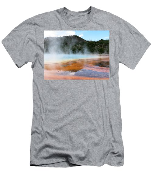Men's T-Shirt (Slim Fit) featuring the photograph Blue Steam by Laurel Powell