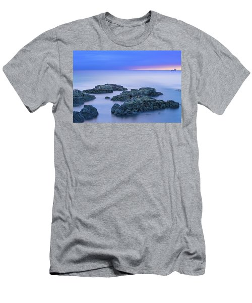 Blue Sunrise Men's T-Shirt (Athletic Fit)