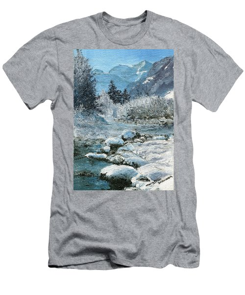 Blue Winter Men's T-Shirt (Athletic Fit)