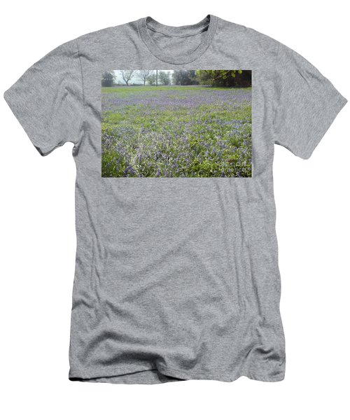 Men's T-Shirt (Slim Fit) featuring the photograph Bluebell Fields by John Williams
