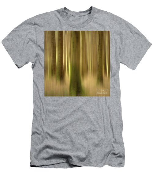 Blurred Trunks In A Forest Men's T-Shirt (Athletic Fit)