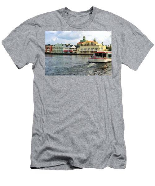 Boardwalk Boat Ride Walt Disney World Men's T-Shirt (Athletic Fit)