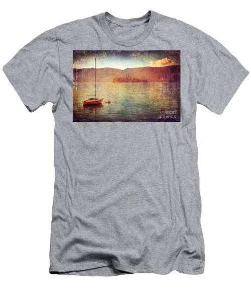 Boat On Lake Maggiore Men's T-Shirt (Athletic Fit)