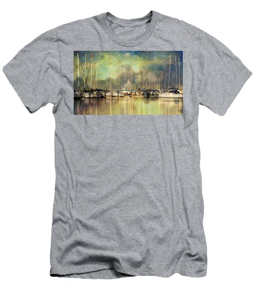 Boats In Harbour Men's T-Shirt (Athletic Fit)