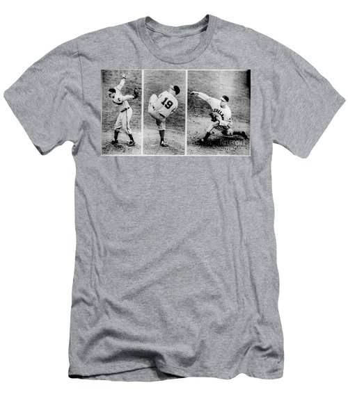 Bob Feller Pitching Men's T-Shirt (Athletic Fit)