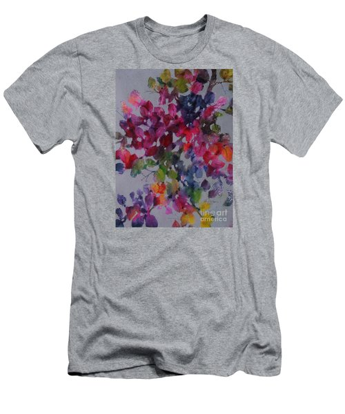 Men's T-Shirt (Slim Fit) featuring the painting Bougainvillea by Michelle Abrams