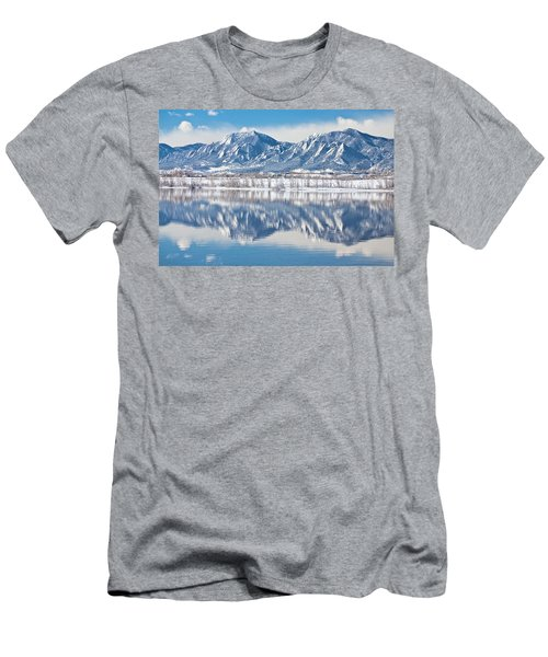 Boulder Reservoir Flatirons Reflections Boulder Colorado Men's T-Shirt (Athletic Fit)