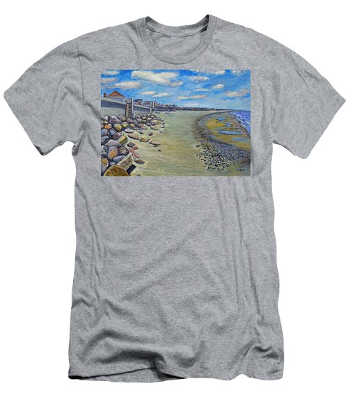Brant Rock Beach Men's T-Shirt (Slim Fit) by Rita Brown