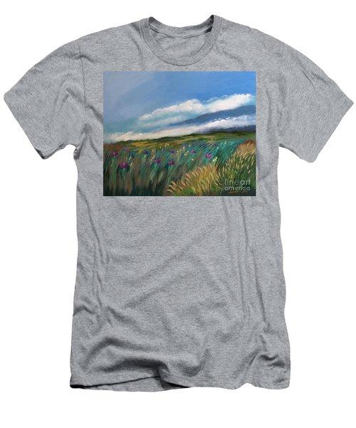 Breezy Day At Mauna Kea Men's T-Shirt (Slim Fit)