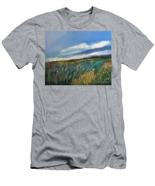 Breezy Day At Mauna Kea Men's T-Shirt (Athletic Fit)