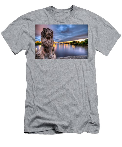 Bridge To Czech Village In Cedar Rapids At Sunset Men's T-Shirt (Athletic Fit)