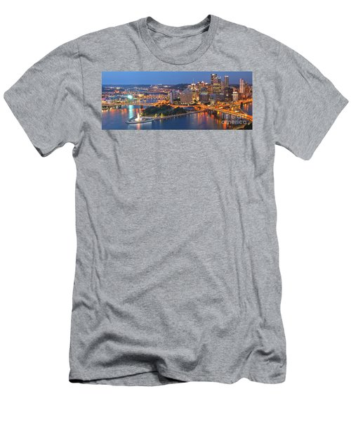 Bridge To The Pittsburgh Skyline Men's T-Shirt (Athletic Fit)