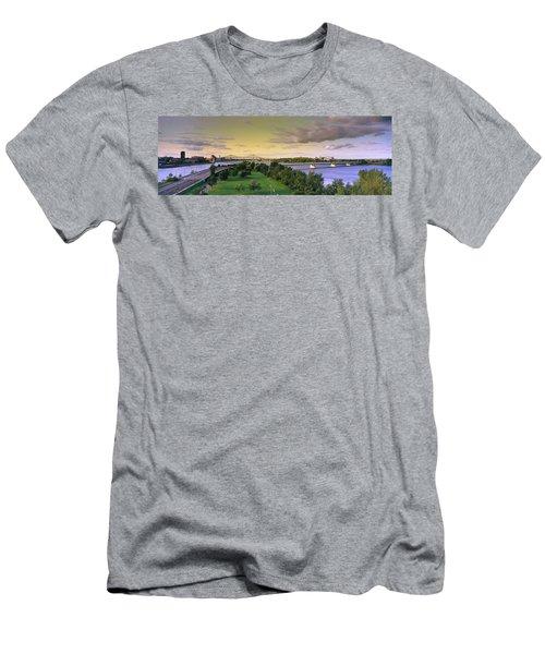 Bridges Across A River, Jacques Cartier Men's T-Shirt (Athletic Fit)