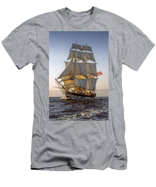 Brig Pilgrim Off Santa Barbara Men's T-Shirt (Athletic Fit)