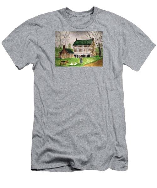 Bringing Home The Ducks Men's T-Shirt (Slim Fit) by Angela Davies
