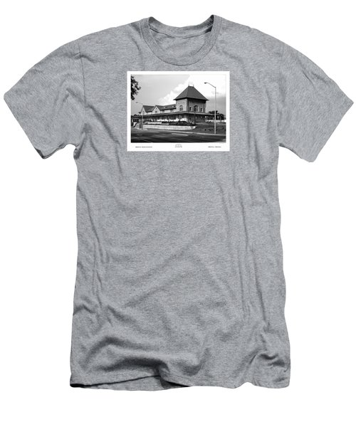Bristol Train Station Bw Men's T-Shirt (Athletic Fit)